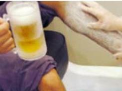 beer pedicure
